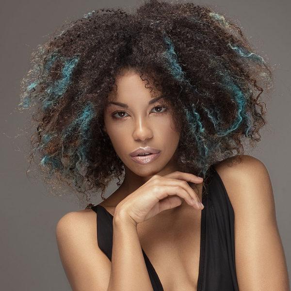 Colorme Blue Escape Temporary Hair Color on Dark Hair