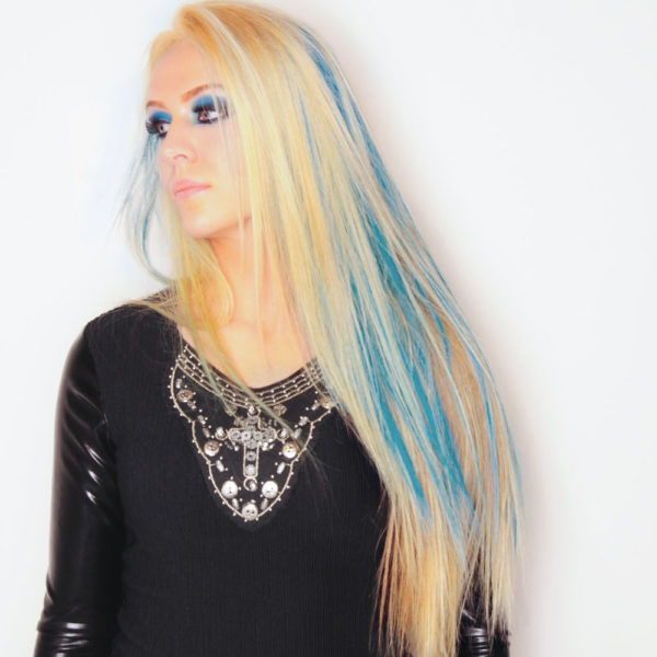 Colorme Blue Escape Temporary Hair Color on Light Hair