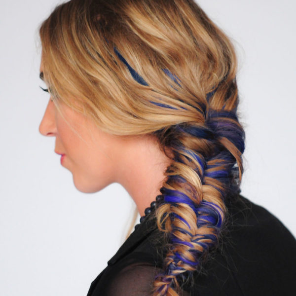 Colorme Blueberry Temporary Hair Color on Light Hair