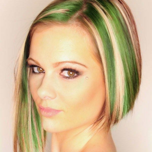 Colorme Emerald Temporary Hair Color on Light Hair