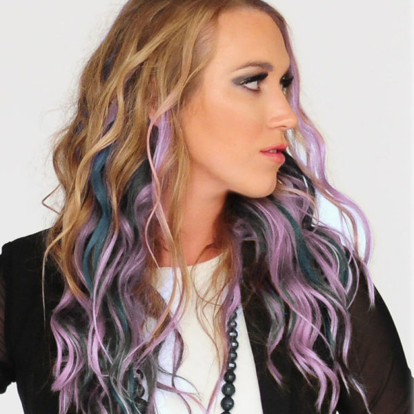 Colorme Lavender Temporary Hair Color on Light Hair