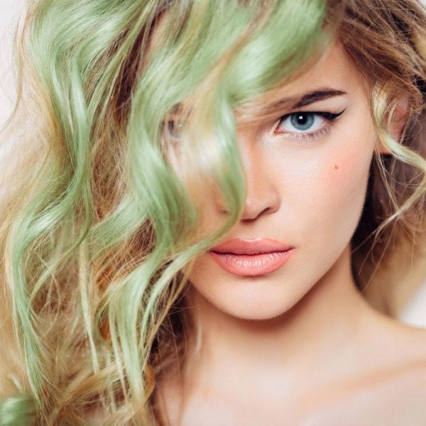 Colorme Mint Temporary Hair Color on Light Hair