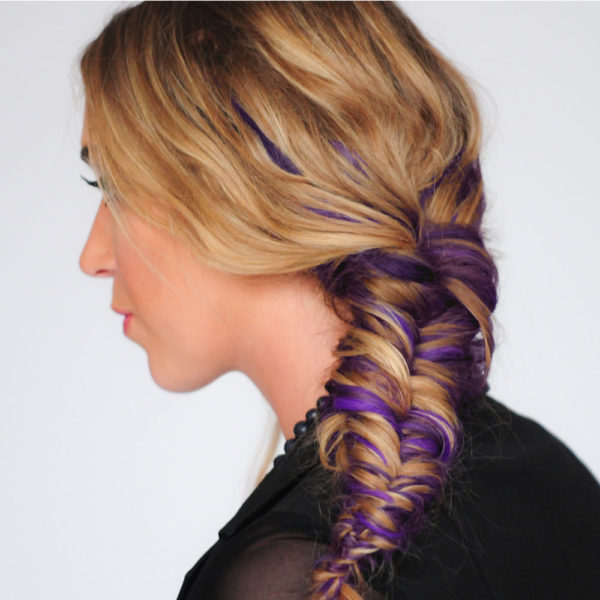 Colorme Violet Desire Temporary Hair Color on Light Hair