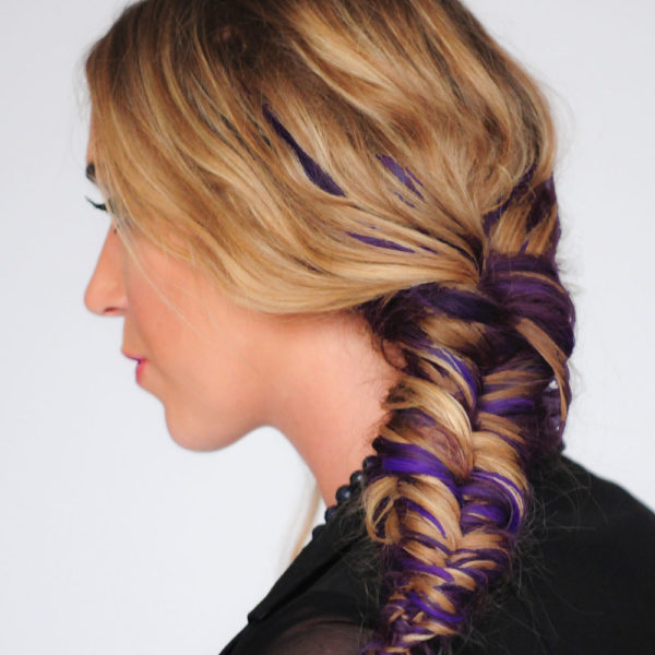 Colorme Violet Night Temporary Hair Color on Light Hair